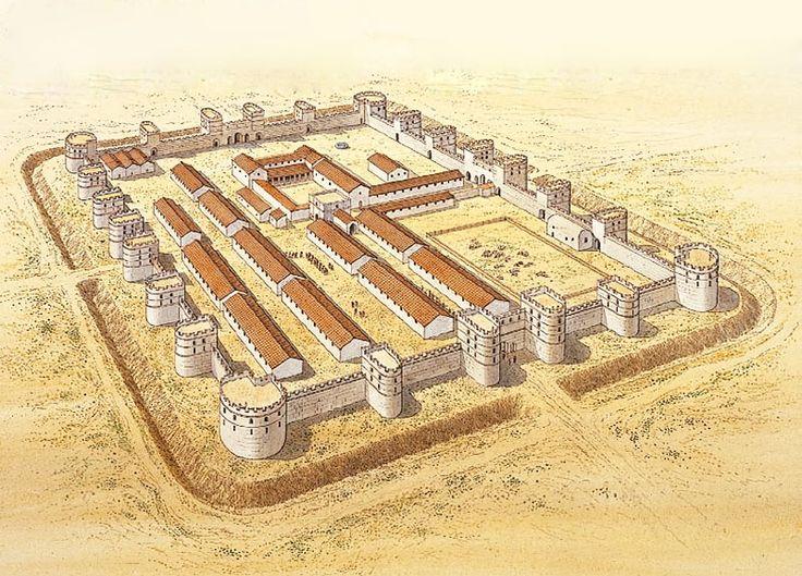 """The late Roman fortress at Betthorus (El-Lejjun), c. AD 378"""