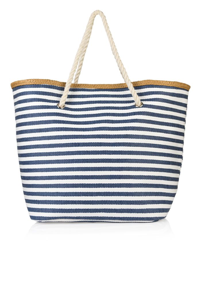 Τσάντα θαλάσσης με ρίγες