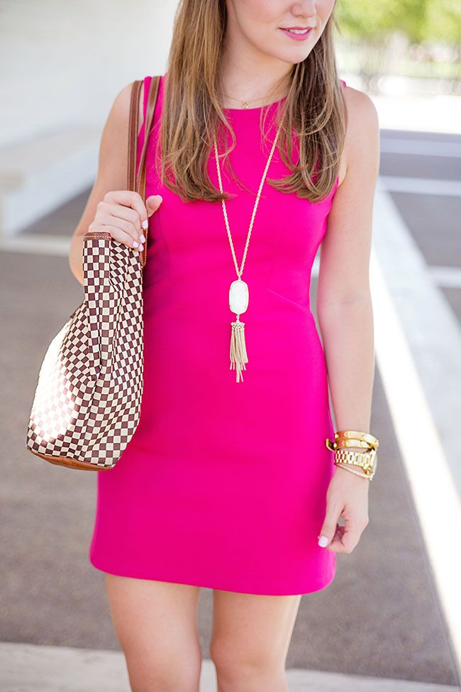 the little pink dress I also need the Kendra Scott necklace in pink