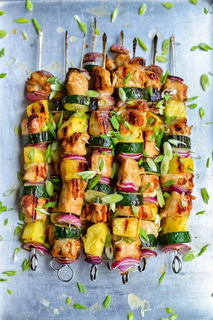 Grilled Chicken Skewers with Asian Flavors