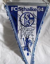 FC SCHALKE 04 - Wimpel mit Spieler-Original-Unterschriften,25x40 cm,Neu,,Lizenz