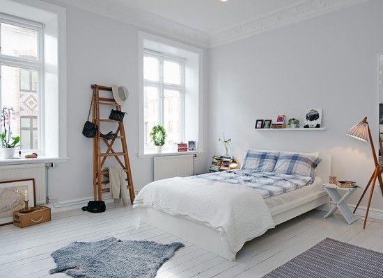 Krásná skandinávská ložnice
