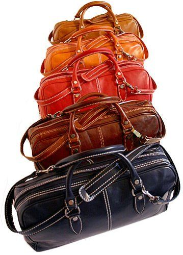 Gotta see this awesome Floto Venezia Mini Duffle in Vecchio Brown - unisex purse, purse, carry-on, baggage