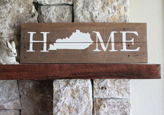 Kentucky HomeReclaimed Wood SignKY SignKentucky by elhdesign77