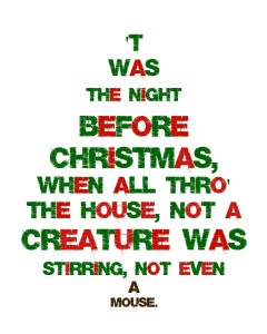 Twas The Night Before Christmas {Free Printable
