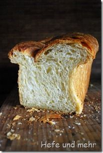 This bread is described as the love child of a soft sandwich bread and a croissant. Fluffy with a very open crumb and the rich taste of butter (recipe included).