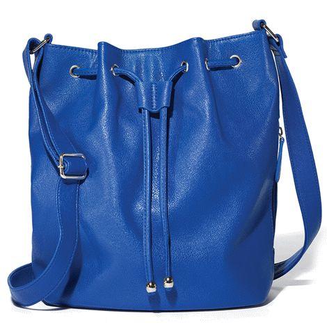 Drawstring Hobo Bag #blue #hobo #bag