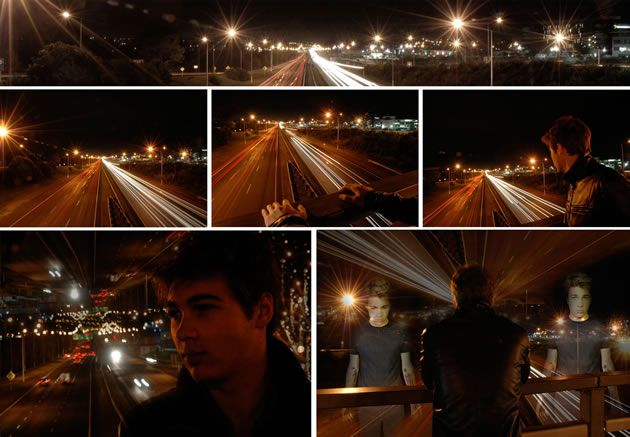 car lights photography