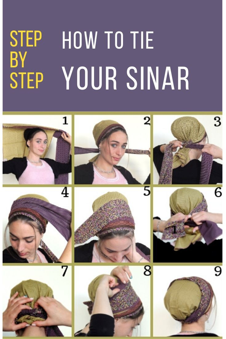 How To Tie Your Sinar Hair Cover Tichel Pattern Scarf Hairstyles