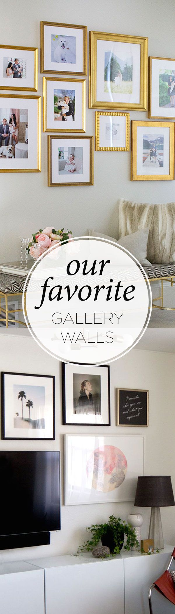 Looking for gallery wall inspiration? Take a look at some of our favorite gallery walls full of special pieces framed with @Framebridge.