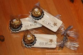 07. Dezember 12 Kleines Weihnachts-Mitbringsel - Small Christmas souvenirs - Ferrero rocher chocolate