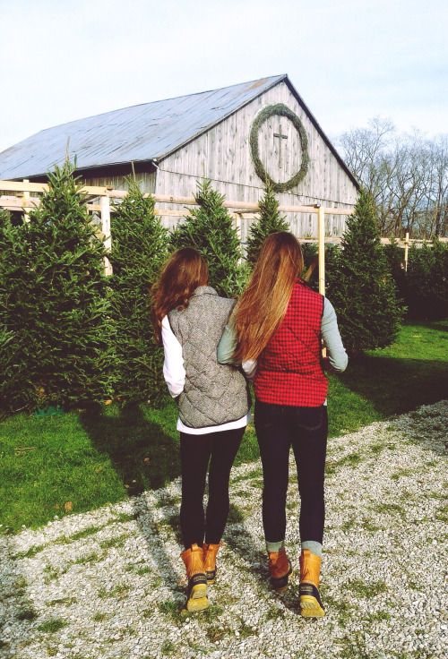 This could totally be my sister and I from behind... took me aback when I saw it because it is so similar to us. Love!