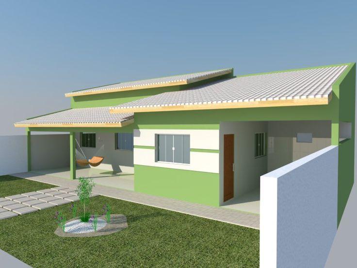 Projeto Edicula com 2 quartos, sala e cozinha conjugada, lavanderia e despensa.   Área Total = 105,00m2