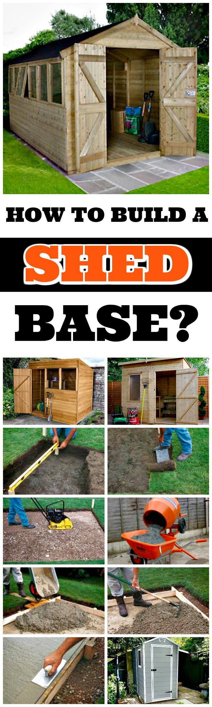 how to build shed concrete base