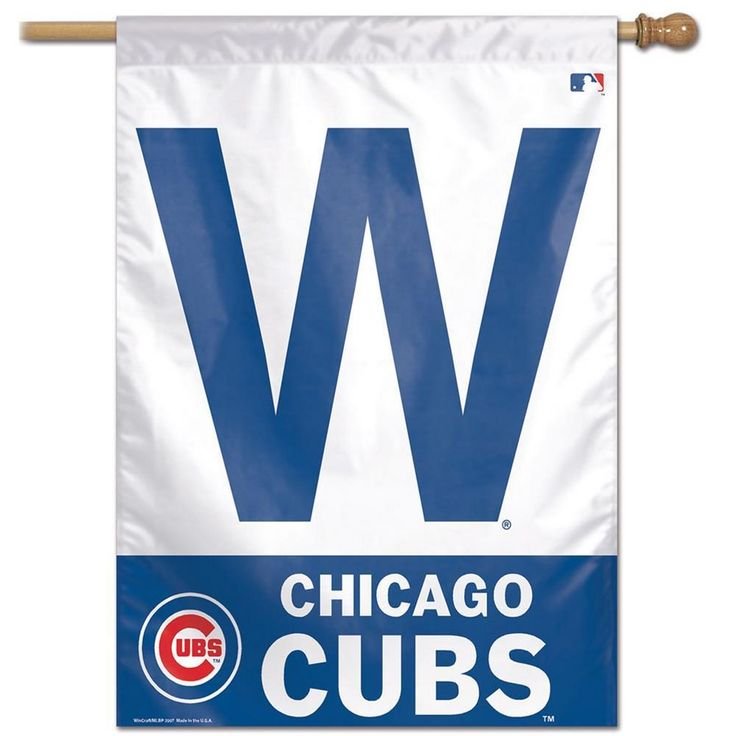 """Chicago Cubs Flag 28"""" x 40"""" Vertical House Banner"""