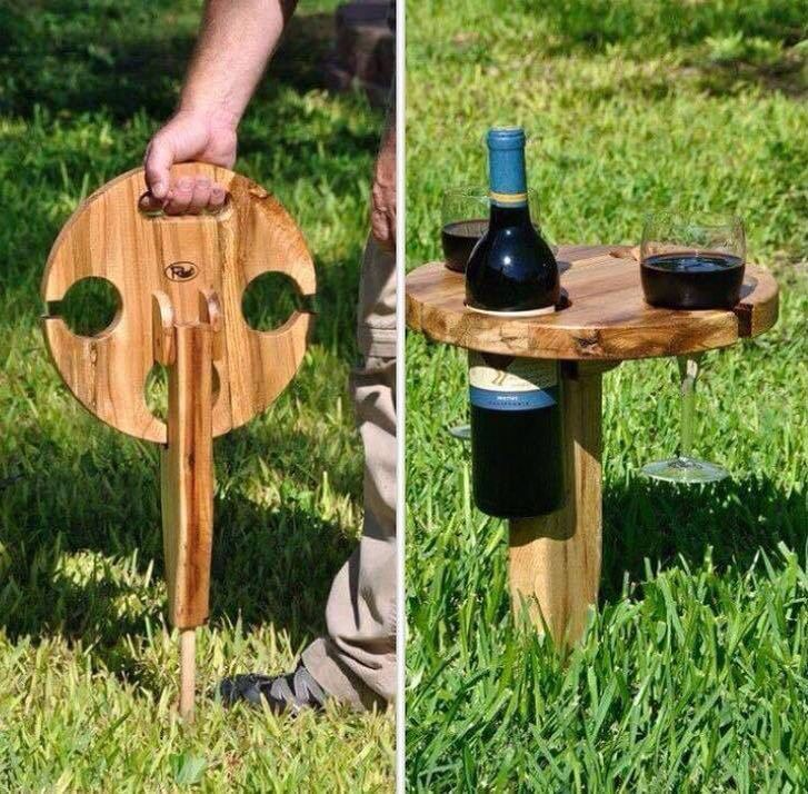 Wine table, portable