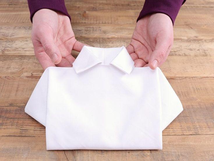 DIY tutorial: Servetten in overhemd-vorm vouwen via DaWanda.com