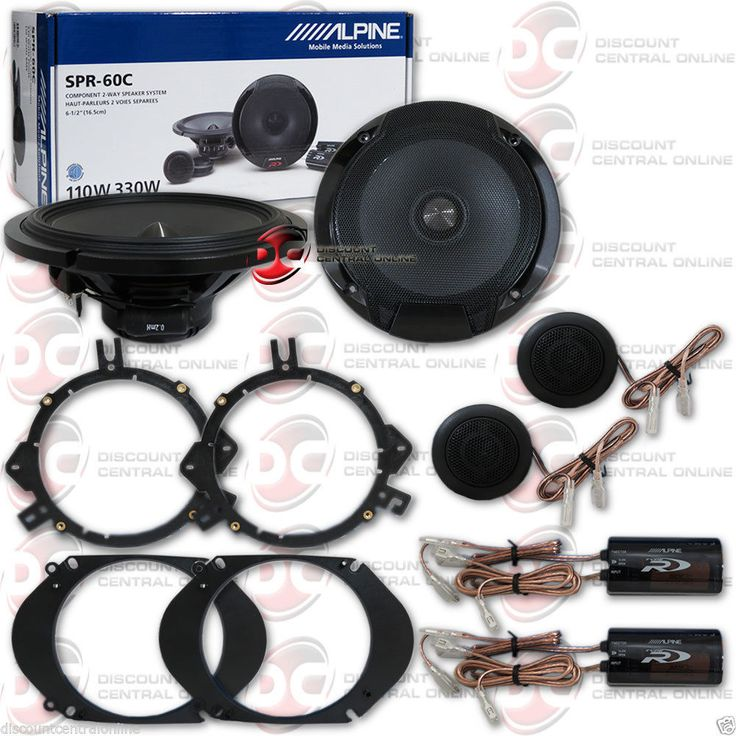 Car Speakers and Speaker Systems: Brand New Alpine Type-R 6.5-Inch 6-1/2 Car Audio Component Speakers (Pair) BUY IT NOW ONLY: $159.99