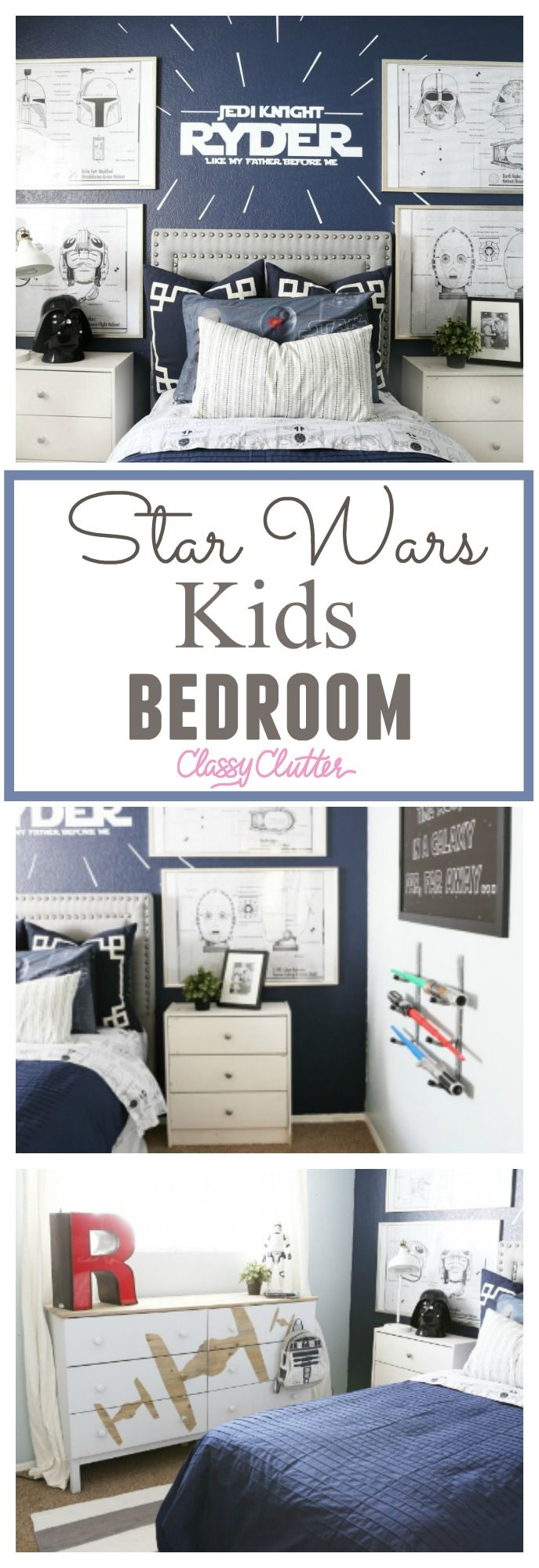 "This room reveal is sponsored by American Furniture Warehouse but all the opinions are my own.   You guys!!! I am so excited to share my little boys room with you today. To say that he is obsessed with his new room is a bit of an understand. My three-year old little boy Ryder LOVES Star Wars. I wanted to give him a themed room with out it being to ""cheesy"" and I really think that Mallory and myself nailed it. The first thing that I bought for his new big boy room was his headboard. I wanted…"