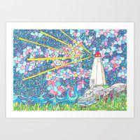 Art Print featuring Peggy's Cove by Juliana Kroscen