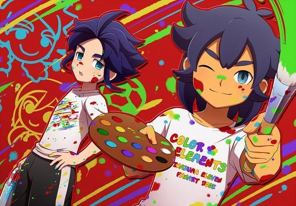 Cute Yukimura and Kishibe painting