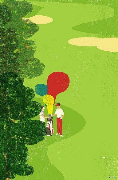Tatsuro Kiuchi : Golf Illustrations