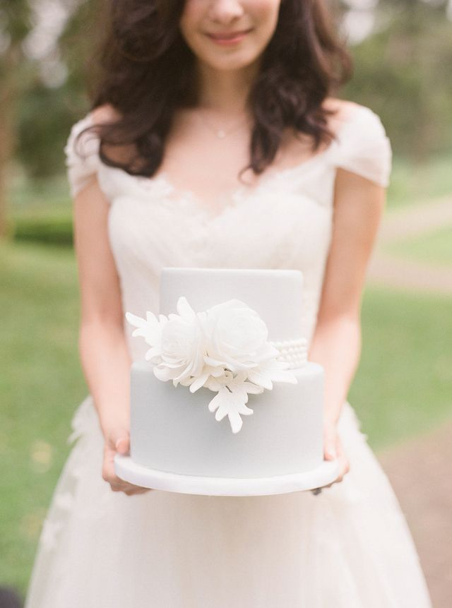 Powder blue wedding cake | Jada Poon Photography | see more on: http://burnettsboards.com/2014/05/dreamy-editorial-inspired-something-blue/ #somethingblue #wedding #cake