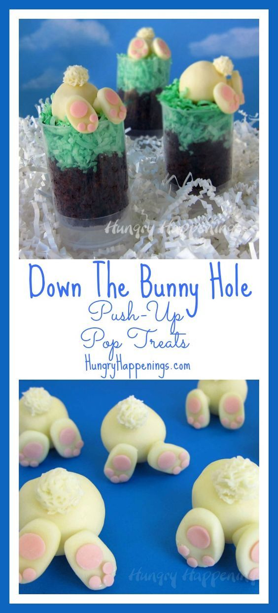 649 best food art images on pinterest roast backen and bakery try making these adorable down the bunny hole push up pop treats there delicious and will make good gifts in the easter negle Images