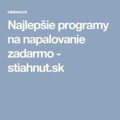 Najlepšie programy na napalovanie zadarmo - stiahnut.sk