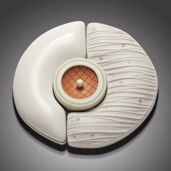 Polar Pin by Dan Cormier    in the permanent collection at Woman Creative    Art & Jewelry Design Center Gallery, Buford, GA