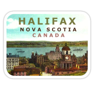 Halifax Nova Scotia Canada Vintage Travel Decal / These retro travel designs will make a great addition to your RV / Airstream / Winnebago / travel trailer / motorhome / westfalia / pickup / luggage / thule / dog / baby – the awesome can go anywhere! Don't settle for boring, load up on vintage class. / WAIT! Before you leave, check out my HUGE selection (multiple collections) of other vintage travel decals!* • Also buy this artwork o...