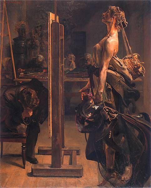 Natchnienie_malarza.jpg (483×600) Malczewski