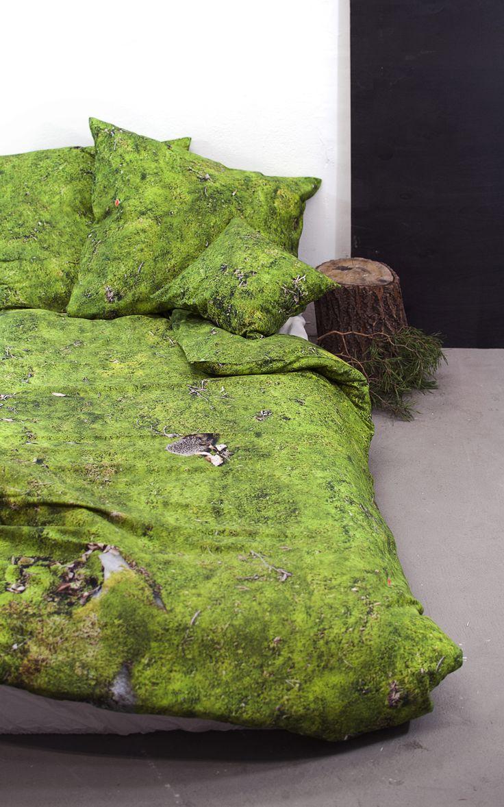 New arrival at hayka.eu / MOSS - bedlinen set - 100% cotton satin - digital print on cotton