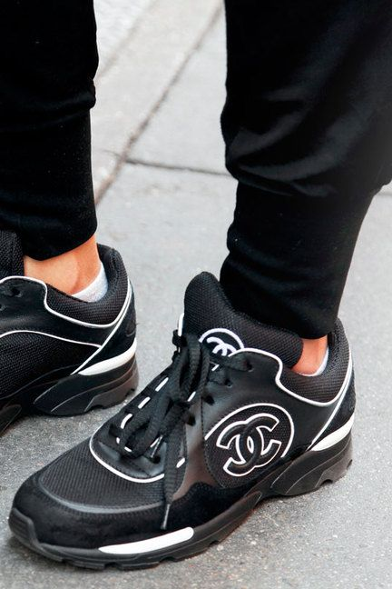 NYC Street Style Accessories ....I need these Chanel sneakers