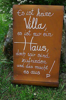Tafel mit Welle Haus Schild Rost Garten Geschenk S…