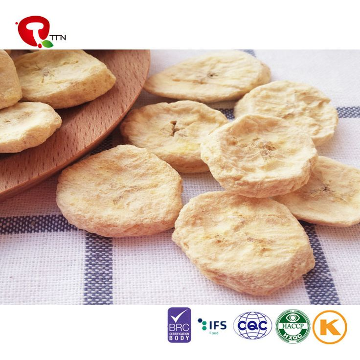 TTN banana nutrition of Healthy snacks for kids with freeze dried bananas from TTN (TIANJIN) METAL IMPORT AND EXPORT CO.,LTD, Model:Banana;Color:banana original color; Raw Material:IQF fruit; Taste:Crispy; Total viable count:≤50 000 cfu/g; Coliforms:≤100 cfu/g;