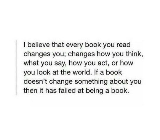 I have read some amazing books that have made me think lately.