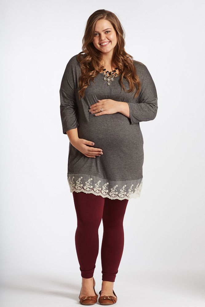 Charcoal-Lace-Trim-Plus-Size-Maternity-Top