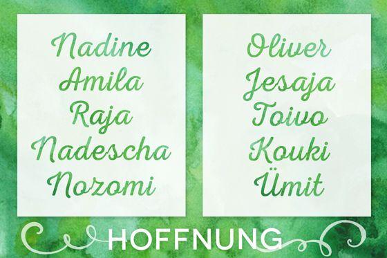 Vornamen Bedeutung Hoffnung