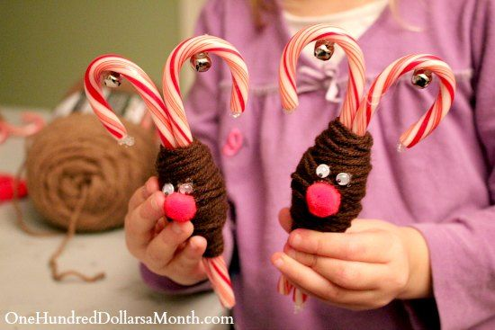 These Reindeer Candy Canes are button cute and perfect for the holiday season! They make fantastic small gifts.
