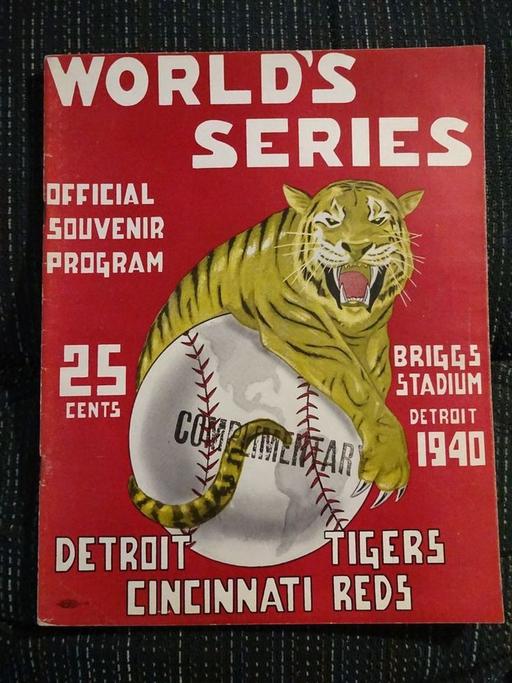 1940 DETROIT TIGERS WORLD SERIES PROGRAM VS CINCINNATI REDS #DetroitTigersCincinnatiReds