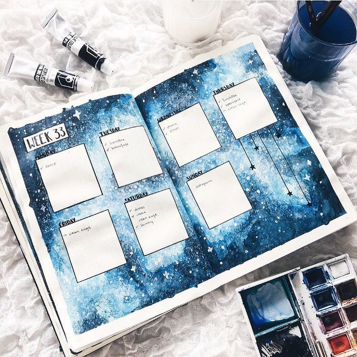 12 Galaxy and Space Themed Bullet Journal Spread – TheFab20s