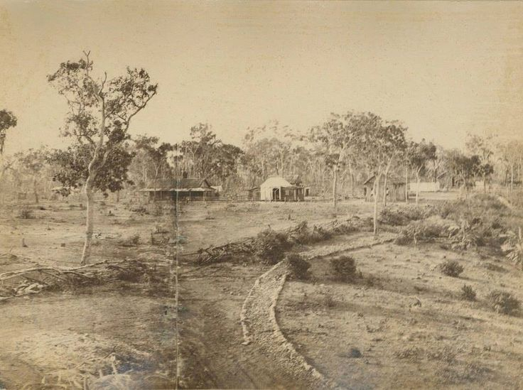 Really old photo from 1870. It was taken from Government House looking towards Mitchell Street. In the centre of the photo is Inspector Paul FoelSche house and to the right is the first police station.