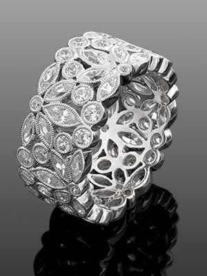Art nouveau antique style ring