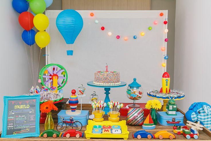 Festa Infantil   Brinquedos do Murilo {Fotografia: Barbara Vanzo   Concepção, decoração e papelaria: Meemo Party Accessories}