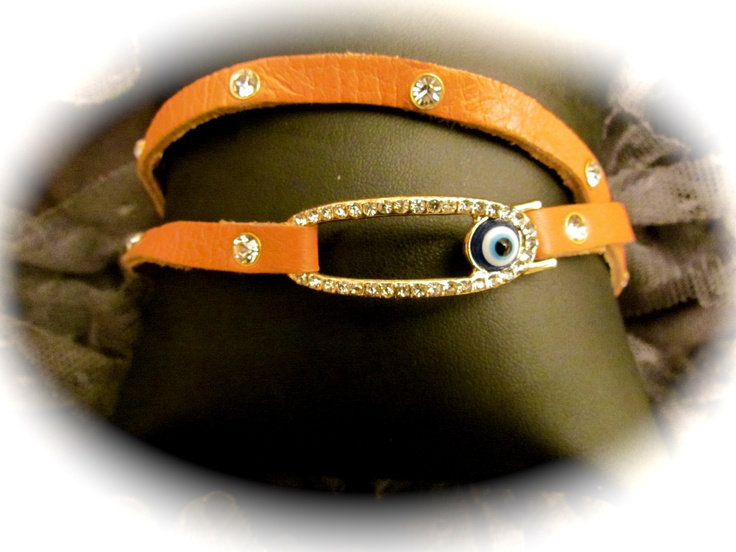 Tan Evil Eye wrap around bracelet..$25 LuckyOneJewelry FaceBookPage