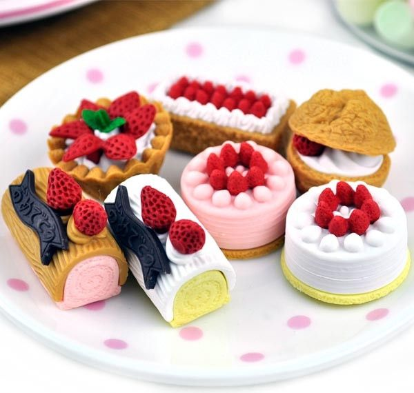 Cool Erasers - Sweet Pastry Eraser Collection | CoolPencilCase.com