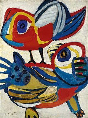 Ontmoeting (Encounter), 1951, Karel Appel