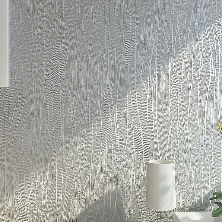 Solid Color Modern Silver Grey Gray Striped Wallpaper Bedroom Wall