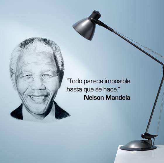 """Todo parece imposible hasta que se hace."" #NelsonMandela #Citas #Frases @Candidman"